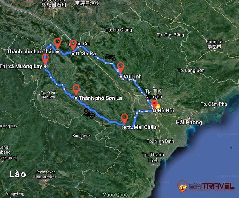 maps of Enjoying A 7 Days Trip To Northwest Motorbike Tour