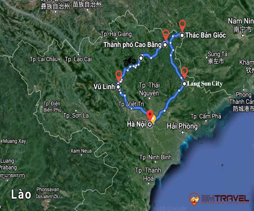 maps of Stay away from bustling cities with 7-day Vietnam Motorbike Tours to the Northeast