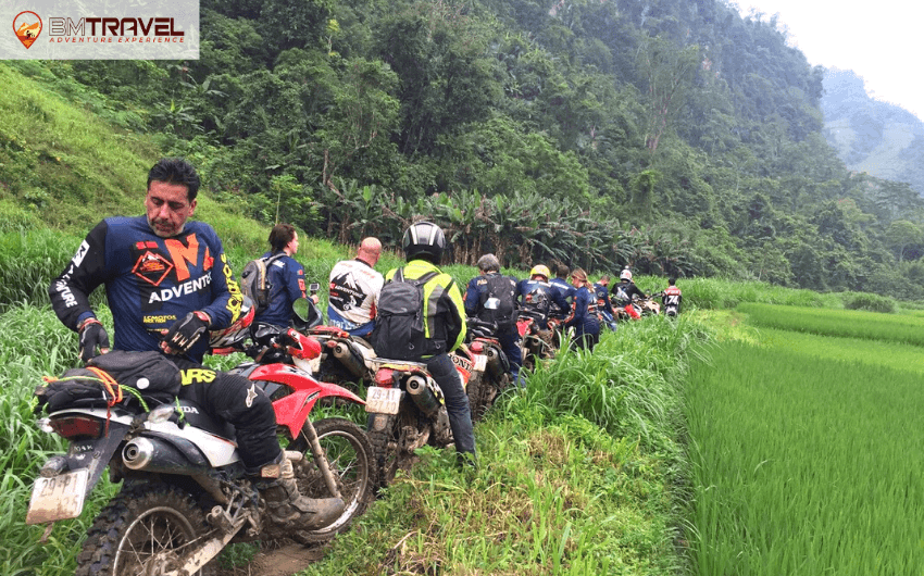 Enjoy Vietnam motorcycle trips near Hanoi